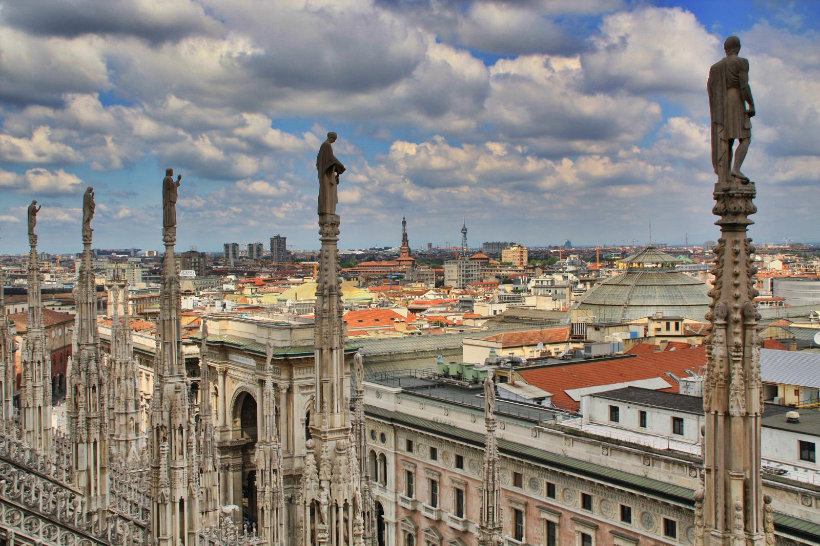 Milán desde los tejados del Doumo, Milán, Italia